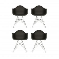 Replica Eames DAR Dining Chair steel leg black