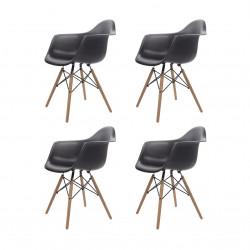 Replica Eames Charles DAW Dining Chair black