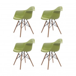 Replica Eames Charles DAW Dining Chair green
