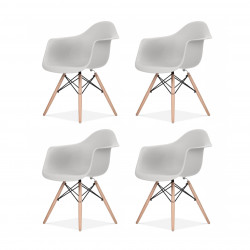 Replica Eames Charles DAW Dining Chair light grey