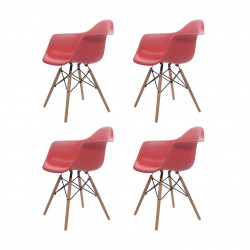Replica Eames Charles DAW Dining Chair red