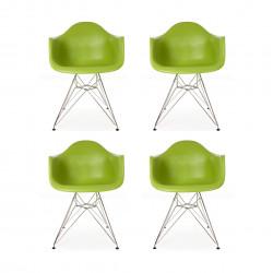 Replica Eames DAR Dining Chair steel leg green