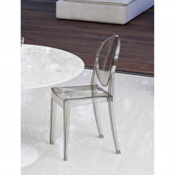 Replica Philippe Starck Victoria Ghost Chair smoke - Copy