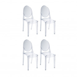 Replica Philippe Starck Victoria Ghost Chair transparent clear