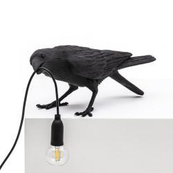 PLACE FURNITURE SELETTI LIGHTING BIRD LAMP BLACK PLAYING 03