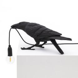 PLACE FURNITURE SELETTI LIGHTING BIRD LAMP BLACK PLAYING 04