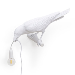PLACE FURNITURE SELETTI LIGHTING BIRD LAMP WHITE LOOKING LEFT 03
