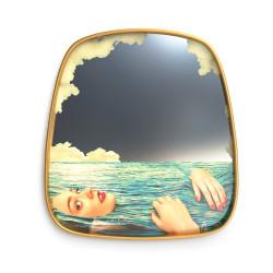 Place Furniture Seletti-Toiletpaper-MIRROR GOLD FRAME SEA GIRLS