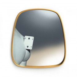 Place Furniture seletti-toiletpaper-MIRROR GOLD FRAME TWO OF SPADES